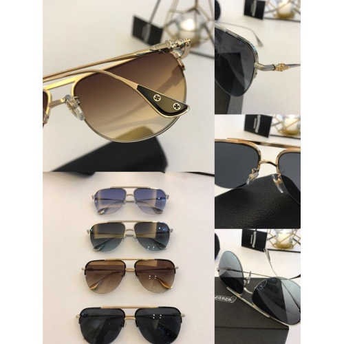 Replica Chrome Hearts AAA Quality Sunglasses #776324 $59.17 USD for Wholesale