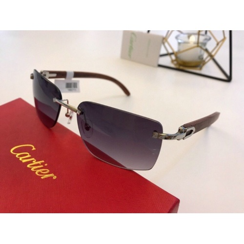 Cartier AAA Quality Sunglasses #776434