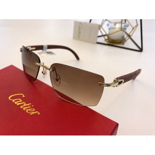 Cartier AAA Quality Sunglasses #776435