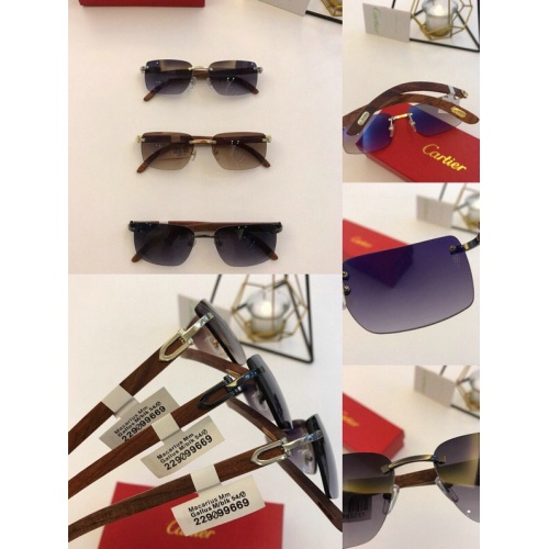 Replica Cartier AAA Quality Sunglasses #776435 $54.32 USD for Wholesale