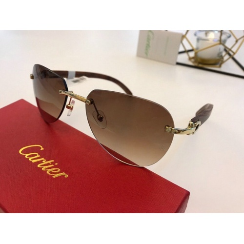 Cartier AAA Quality Sunglasses #776440
