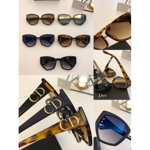 Replica Christian Dior AAA Quality Sunglasses #776458 $54.32 USD for Wholesale