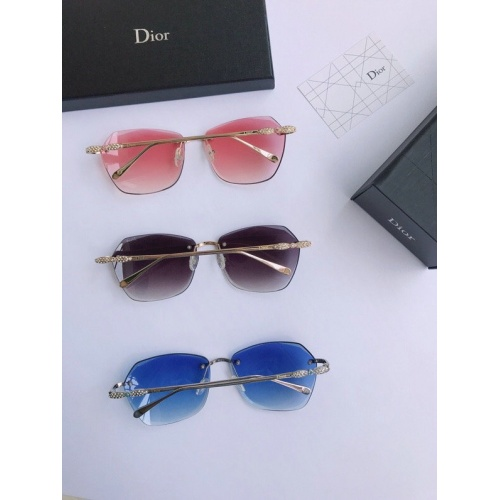 Replica Christian Dior AAA Quality Sunglasses #776513 $54.32 USD for Wholesale