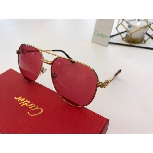 Cartier AAA Quality Sunglasses #777185