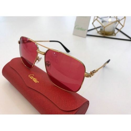Cartier AAA Quality Sunglasses #777187