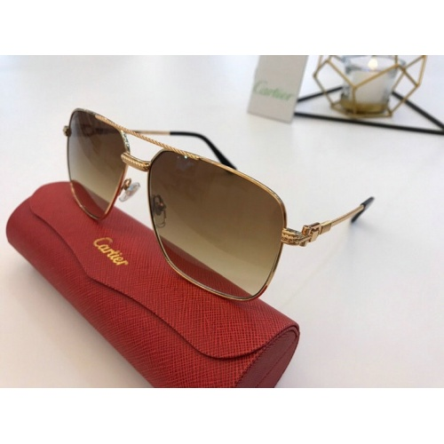Cartier AAA Quality Sunglasses #777189 $47.53 USD, Wholesale Replica Cartier Super AAA Sunglasses