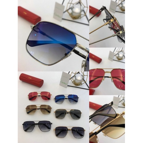 Replica Cartier AAA Quality Sunglasses #777189 $47.53 USD for Wholesale