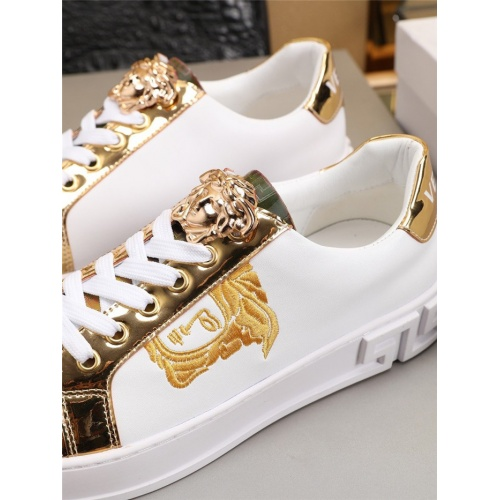 Replica Versace Casual Shoes For Men #777805 $79.54 USD for Wholesale