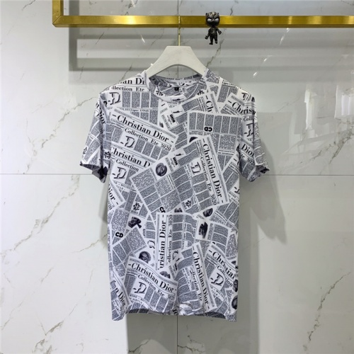 Christian Dior T-Shirts Short Sleeved O-Neck For Men #778536 $40.74 USD, Wholesale Replica Christian Dior T-Shirts