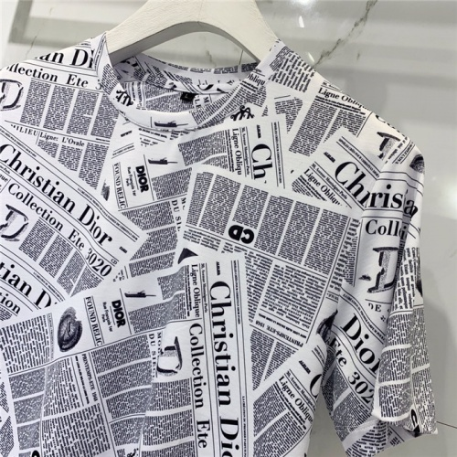 Replica Christian Dior T-Shirts Short Sleeved O-Neck For Men #778536 $40.74 USD for Wholesale