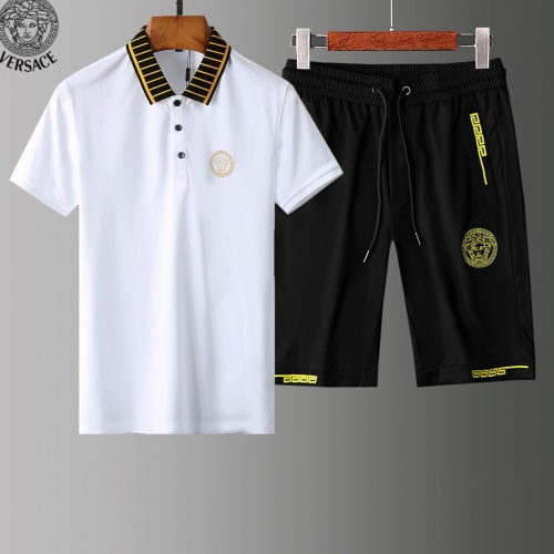 Versace Tracksuits Short Sleeved Polo For Men #779031 $58.20 USD, Wholesale Replica Versace Tracksuits