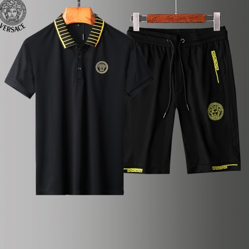 Versace Tracksuits Short Sleeved Polo For Men #779032 $58.20, Wholesale Replica Versace Tracksuits