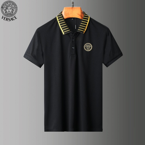 Replica Versace Tracksuits Short Sleeved Polo For Men #779032 $58.20 USD for Wholesale