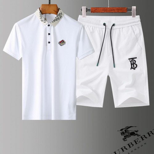 Burberry Tracksuits Short Sleeved Polo For Men #779048 $58.20 USD, Wholesale Replica Burberry Tracksuits