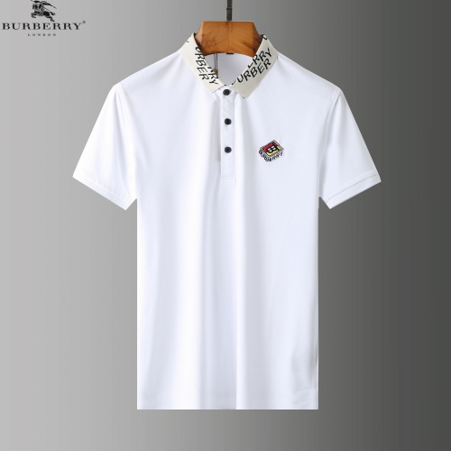 Replica Burberry Tracksuits Short Sleeved Polo For Men #779048 $58.20 USD for Wholesale