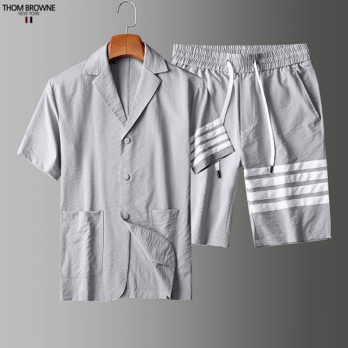Thom Browne TB Tracksuits Short Sleeved Polo For Men #779112 $73.72 USD, Wholesale Replica Thom Browne TB Tracksuits