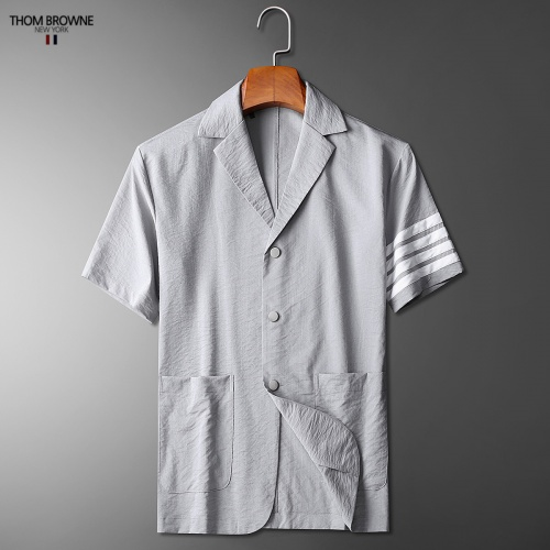 Replica Thom Browne TB Tracksuits Short Sleeved Polo For Men #779112 $73.72 USD for Wholesale