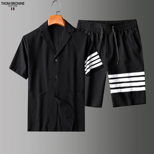 Thom Browne TB Tracksuits Short Sleeved Polo For Men #779113 $73.72 USD, Wholesale Replica Thom Browne TB Tracksuits