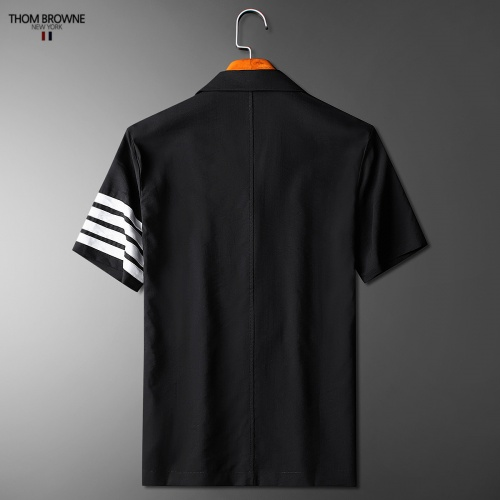 Replica Thom Browne TB Tracksuits Short Sleeved Polo For Men #779113 $73.72 USD for Wholesale