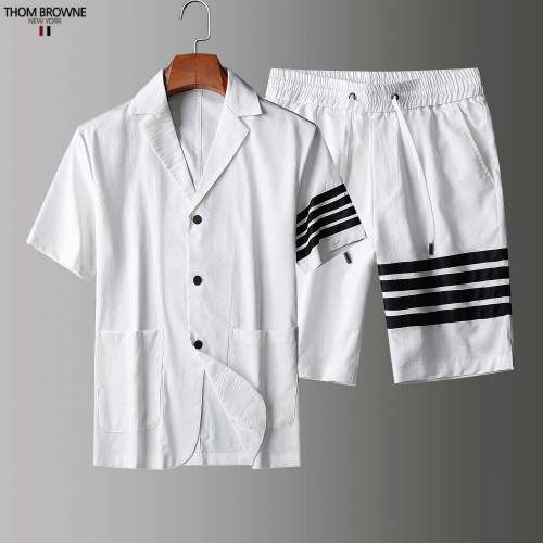 Thom Browne TB Tracksuits Short Sleeved Polo For Men #779115 $73.72 USD, Wholesale Replica Thom Browne TB Tracksuits