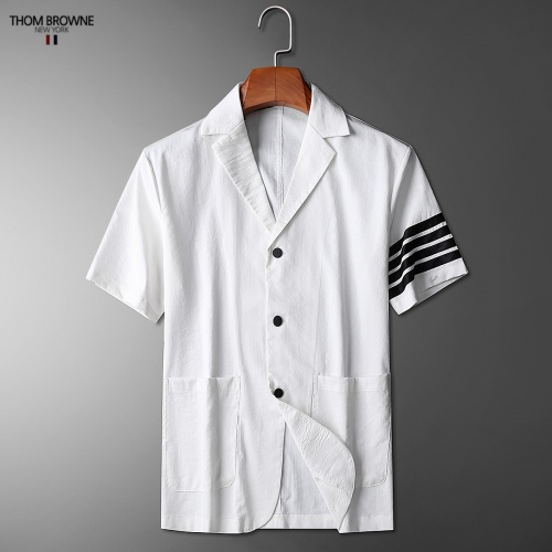 Replica Thom Browne TB Tracksuits Short Sleeved Polo For Men #779115 $73.72 USD for Wholesale
