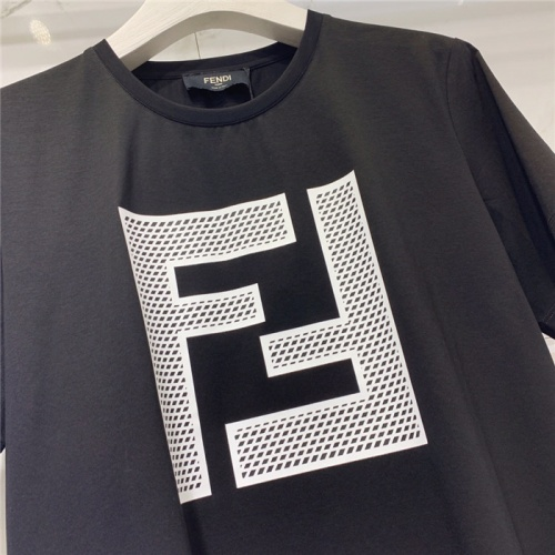 Replica Fendi T-Shirts Short Sleeved O-Neck For Men #779444 $39.77 USD for Wholesale