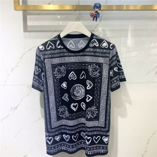 Versace T-Shirts Short Sleeved O-Neck For Men #779465 $39.77 USD, Wholesale Replica Versace T-Shirts