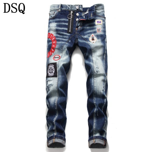 Dsquared Jeans Trousers For Men #779611 $46.56, Wholesale Replica Dsquared Jeans