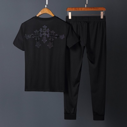 Replica Chrome Hearts Tracksuits Short Sleeved O-Neck For Men #780286 $65.96 USD for Wholesale