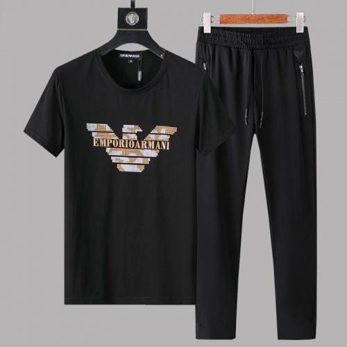 Armani Tracksuits Short Sleeved O-Neck For Men #780313