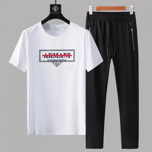 Armani Tracksuits Short Sleeved O-Neck For Men #780314