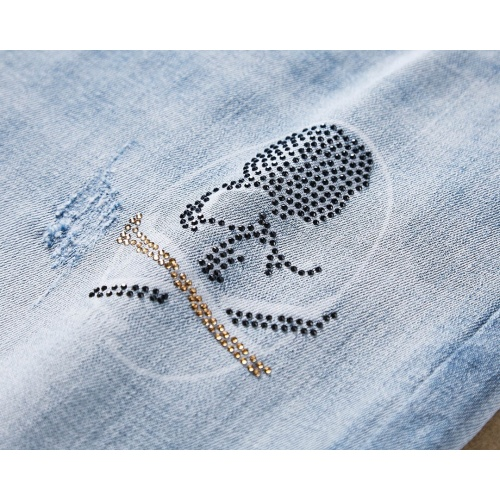 Replica Philipp Plein PP Jeans Trousers For Men #781707 $40.74 USD for Wholesale