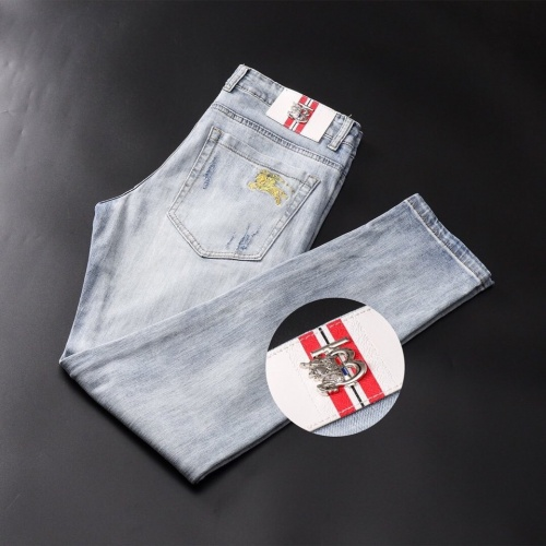 Replica Burberry Jeans Trousers For Men #781722 $40.74 USD for Wholesale
