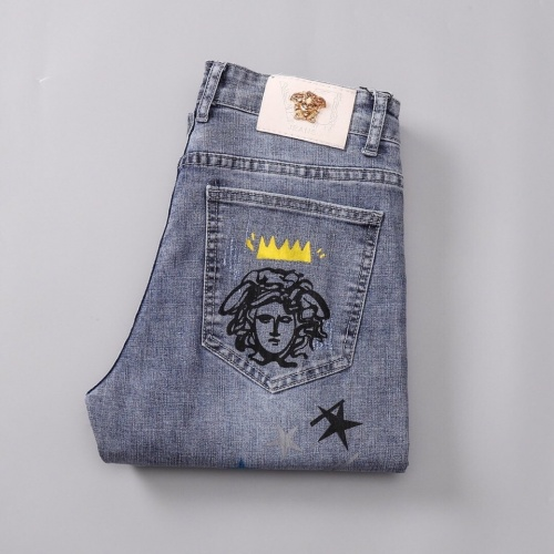 Replica Versace Jeans Trousers For Men #781725 $40.74 USD for Wholesale