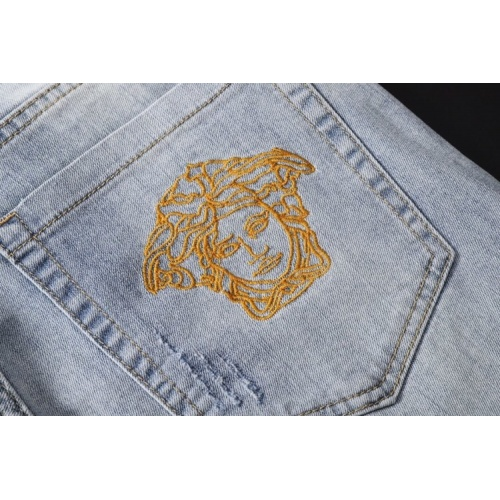 Replica Versace Jeans Trousers For Men #781728 $40.74 USD for Wholesale