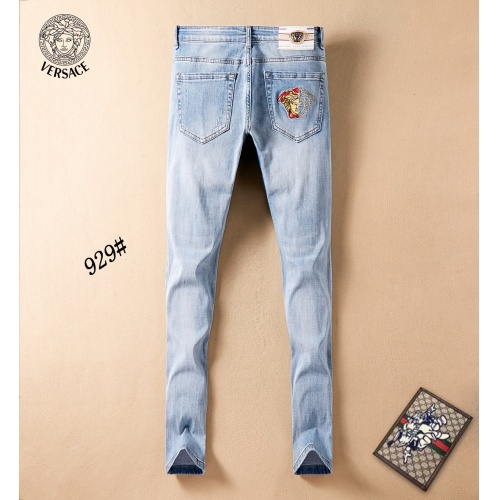 Replica Versace Jeans Trousers For Men #781729 $40.74 USD for Wholesale