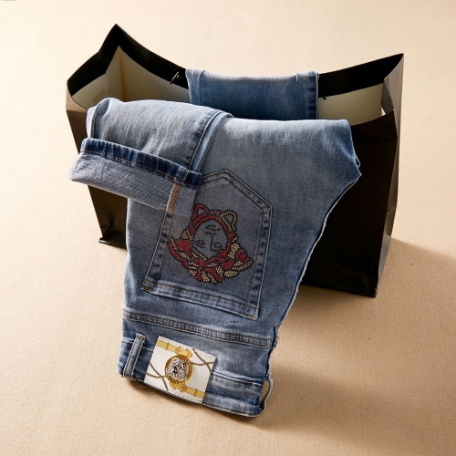 Replica Versace Jeans Trousers For Men #781731 $40.74 USD for Wholesale