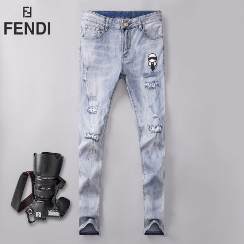 Fendi Jeans Trousers For Men #781732 $40.74, Wholesale Replica Fendi Jeans