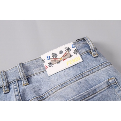 Replica Fendi Jeans Trousers For Men #781732 $40.74 USD for Wholesale