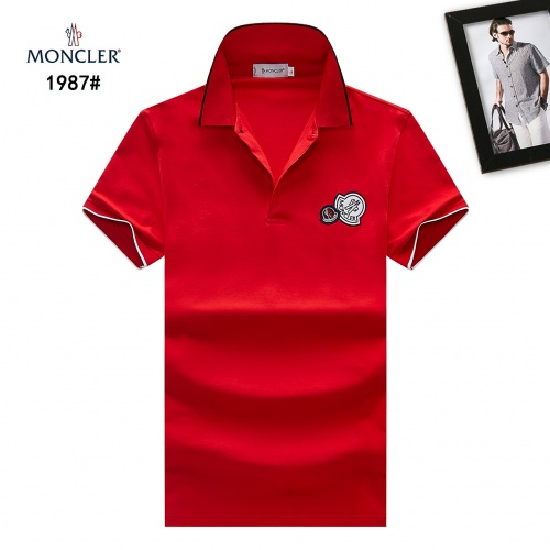 Moncler T-Shirts Short Sleeved Polo For Men #781763 $28.13, Wholesale Replica Moncler T-Shirts