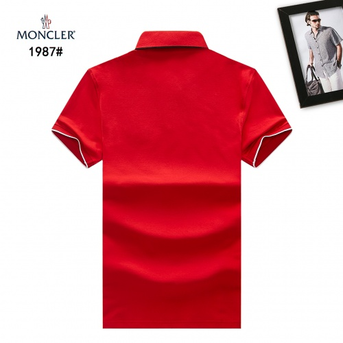 Replica Moncler T-Shirts Short Sleeved Polo For Men #781763 $28.13 USD for Wholesale