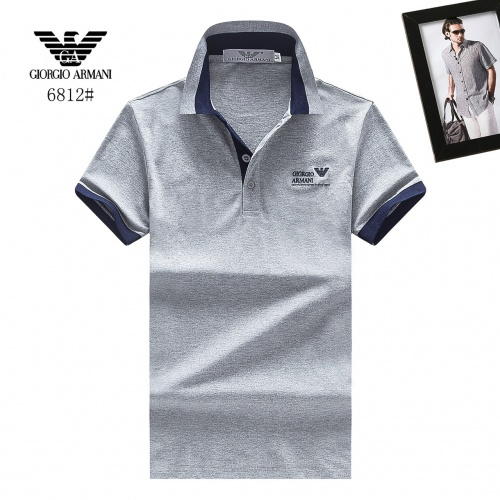 Armani T-Shirts Short Sleeved Polo For Men #781811