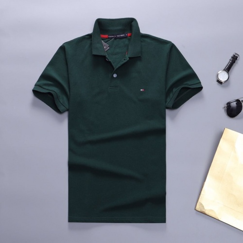 Tommy Hilfiger TH T-Shirts Short Sleeved Polo For Men #781827 $23.28 USD, Wholesale Replica Tommy Hilfiger TH T-Shirts