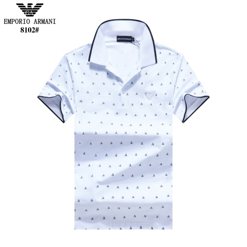 Armani T-Shirts Short Sleeved Polo For Men #781849