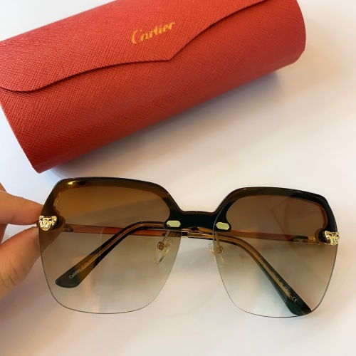 Cartier AAA Quality Sunglasses #782061