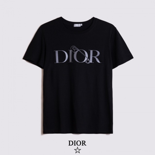 Christian Dior T-Shirts Short Sleeved O-Neck For Men #782891 $26.19 USD, Wholesale Replica Christian Dior T-Shirts