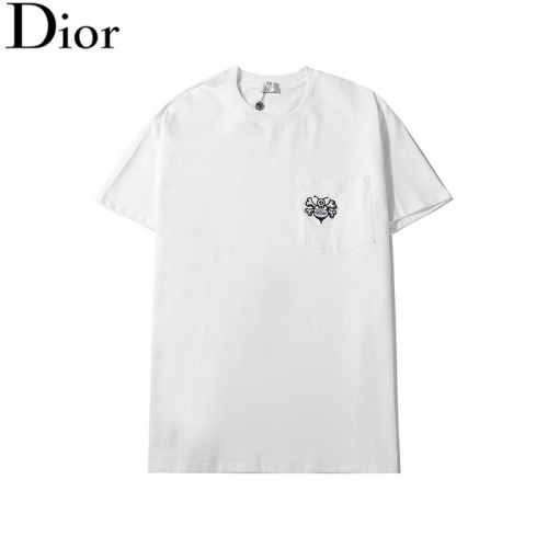 Christian Dior T-Shirts Short Sleeved O-Neck For Men #782896 $26.19 USD, Wholesale Replica Christian Dior T-Shirts