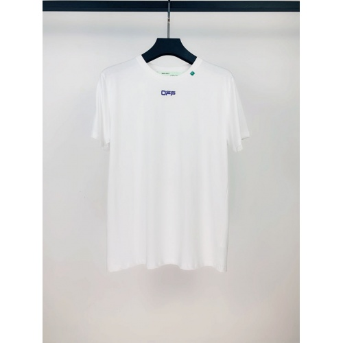 Replica Off-White T-Shirts Short Sleeved O-Neck For Men #783329 $26.19 USD for Wholesale
