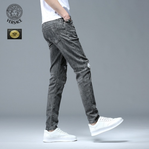 Replica Versace Jeans Trousers For Men #783656 $46.56 USD for Wholesale