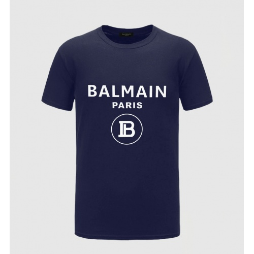 Balmain T-Shirts Short Sleeved O-Neck For Men #783769 $23.28, Wholesale Replica Balmain T-Shirts